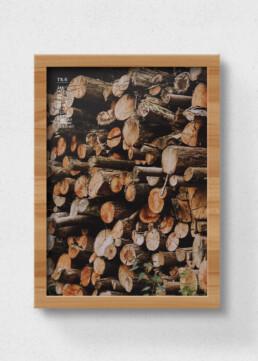 plakat af træ