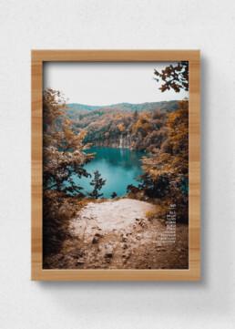 plakat af sø