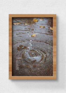 plakat af vandpyt